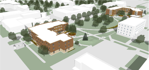 Proposed look of new residence halls 2E and 2W