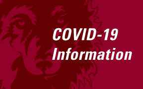 Image of NSU logo and COVID-19 information