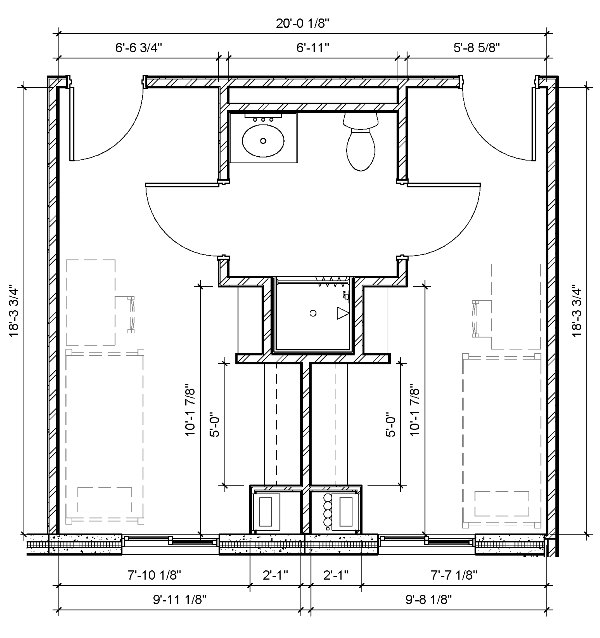 Two-Person Two-Bedroom Semi-Suite