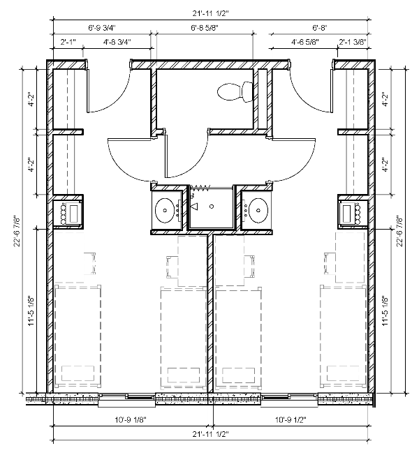 Four-Person Two-Bedroom Semi-Suite