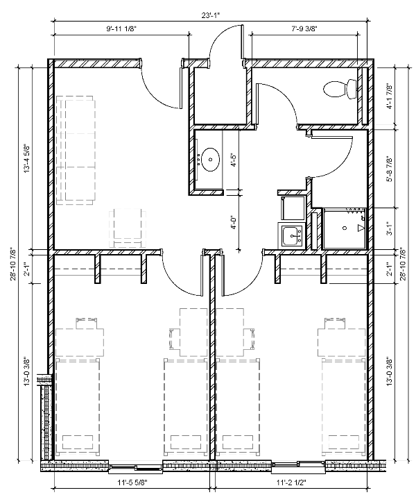 Four-Person Two-Bedroom Suite