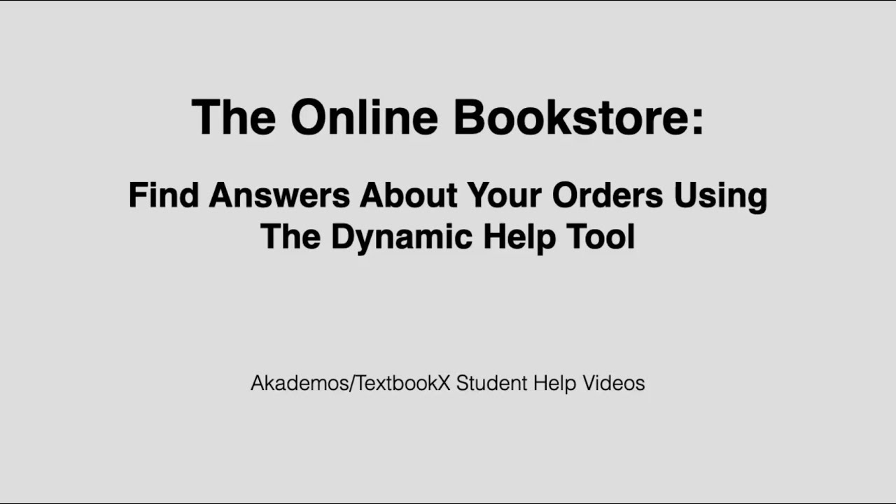 Students: Find Answers Using the Dynamic Customer Experience Tool