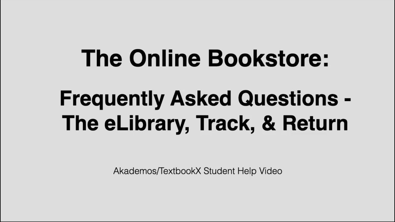 Students: Answers to FAQs