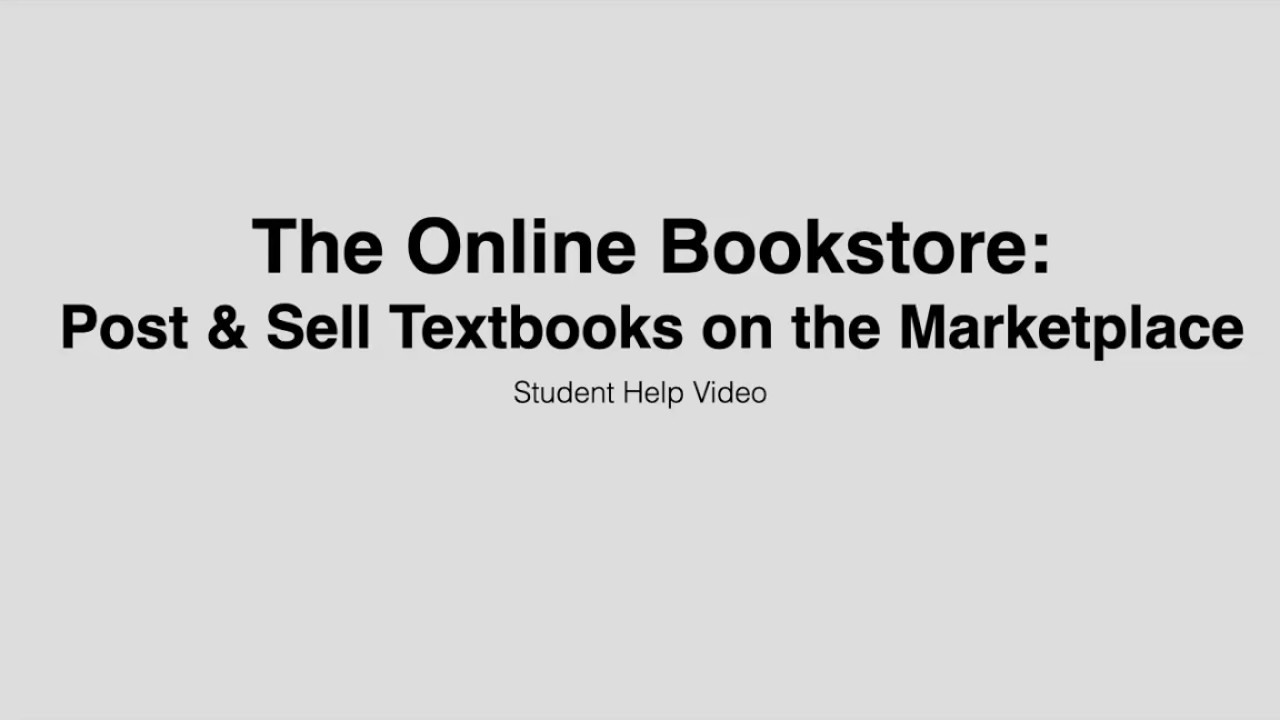 Post & Sell Textbooks on the Marketplace