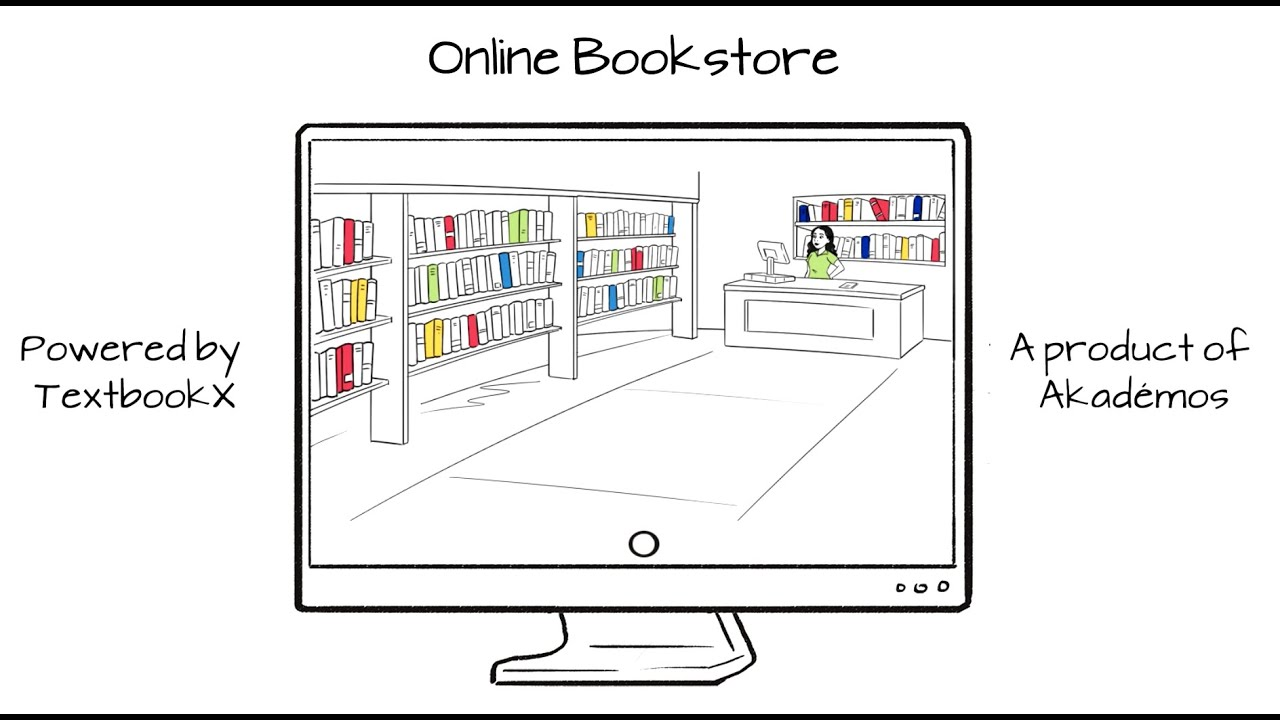 How does the Akademos/TextbookX Online Bookstore work?