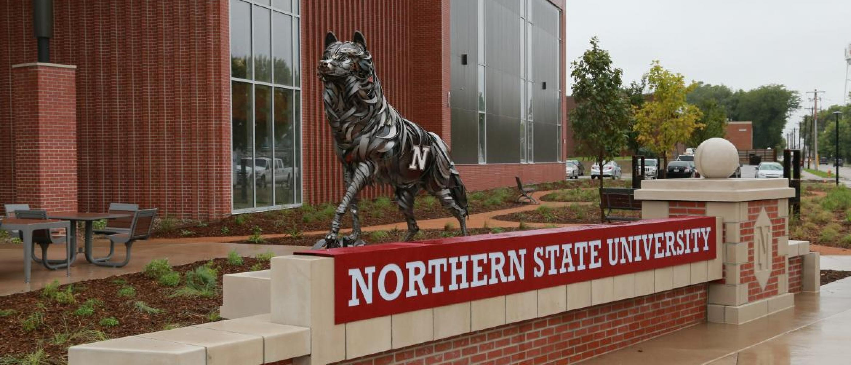 Wolf on NSU Campus