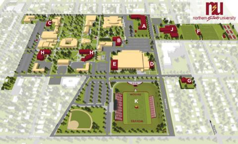 NSU master plan map graphic