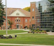 View of Tech Center and campus green