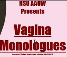 AAUW Vagina Monologues graphic