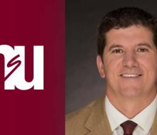 NSU logo with headshot of outgoing staff member