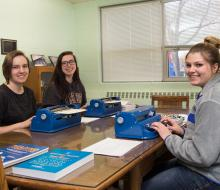 NSU students in the SDSBVI Braille course