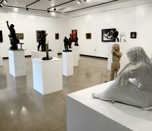 Statues from art gallery exhibition