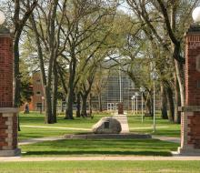 View of campus green