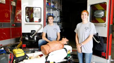 Asher and Hanna Wahl, EMT interns