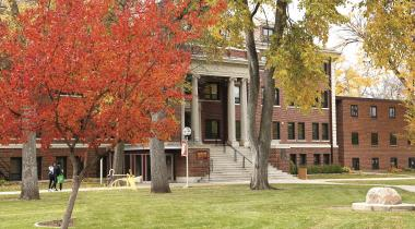 Lincoln Hall in the fall